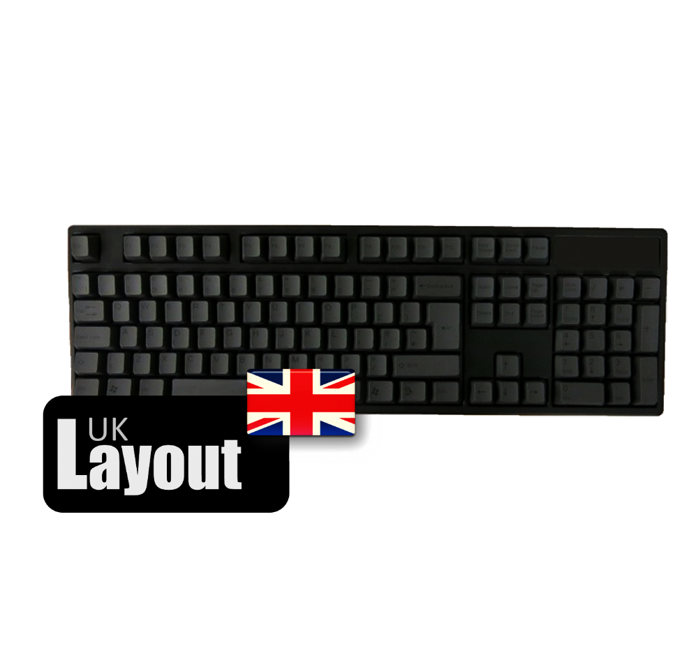 Tai-Hao PBT Double Shot Keycaps Black Black UK